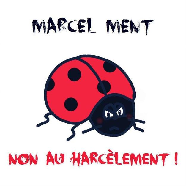 Kiara pour l'association «marcel ment» et dire NON aux harcèlements de nos enfants à l'école